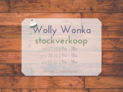 Stockverkoop bij Wolly Wonka